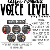 Voice Level Posters | Coffee Farmhouse