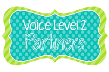 Voice Level Posters {FREE: Blue, Green, & White!}
