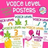 Voice Level Posters Flamingo Tropical Pineapple Theme Class Management