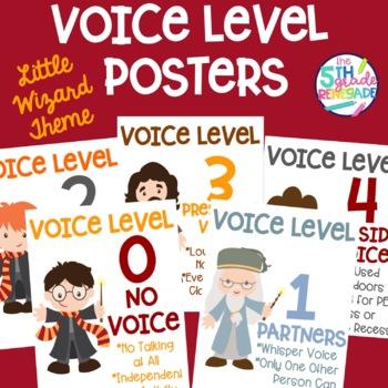 Voice Level Posters Harry Potter Theme Class Management