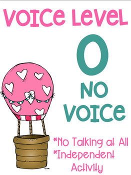 Voice Level Posters Hot Air Balloon Theme Class Management