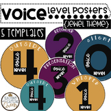 Voice Level Posters - Jewel Theme - 5 Styles