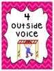 Voice Level Posters - Multi Colored Chevron