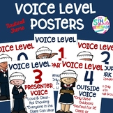 Voice Level Posters Nautical Theme Class Management