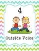 Voice Level Posters (Neon Chevron)