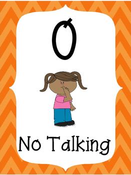 Voice Level Posters-Orange