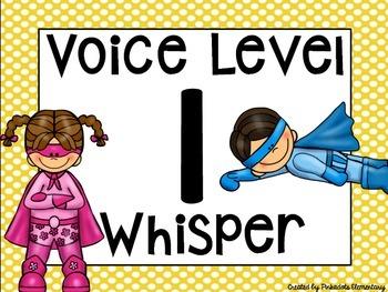 Voice Level Posters - Superhero Theme!!