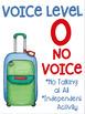 Voice Level Posters Travel Theme Watercolor Clipart Class Management