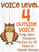 Voice Level Posters Woodland Animal Theme Watercolor Clipart Class Management