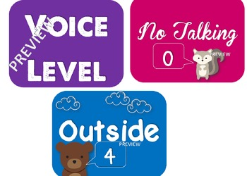 Voice Level Posters - Woodland Animals