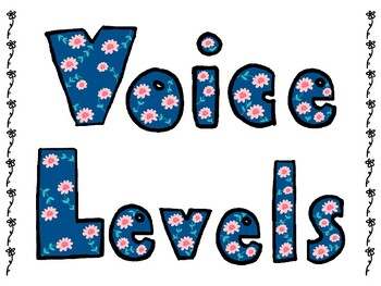 Voice Level Posters for Classroom Management-Great first day activity!