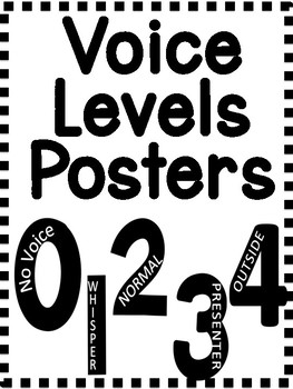 Voice Level Printable Posters