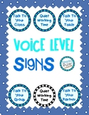 Voice Level Signs (Color and Black & White)