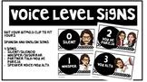 Voice Level Signs (Editable & Spanish Version)