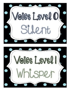 Voice Level Signs Small