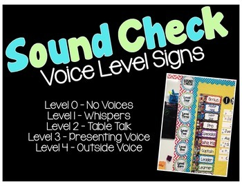 Voice Level Signs - Sound Check