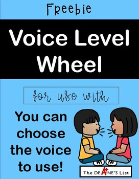 Voice Level Wheel for use with You can choose the voice to use!