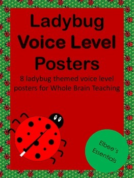 Voice Level - Whole Brain Teaching Posters (Ladybug Themed)
