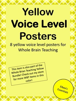 Voice Level - Whole Brain Teaching Posters (Yellow)