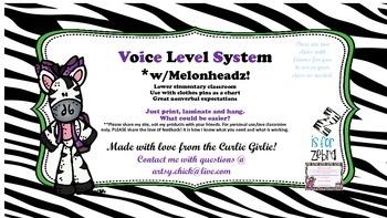 Voice Level Zebras W/Melonheadz