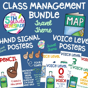 Voice Level and Hand Signal Travel Theme Bundle