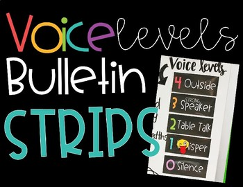 Voice Levels Bulletin Board Strips