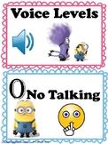 Voice Levels Chart Minions Theme
