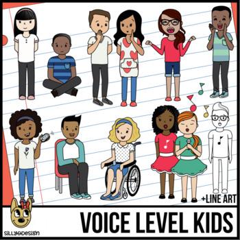 Voice Levels Kid Clip Art