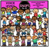 Voice Levels Clip Art Bundle {Educlips Clipart}