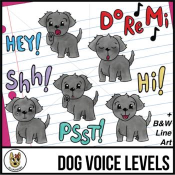 Voice Levels Clip Art - Dogs
