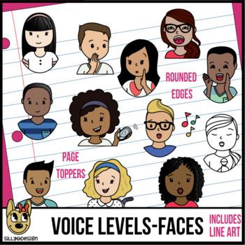 Voice Levels Clip Art - Faces Only