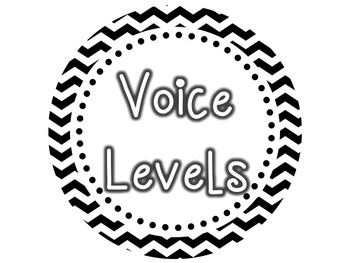 Voice Levels Clip Chart {Black & White Chevron}