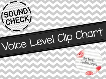 Chevron Voice Levels Clip Chart (BW)