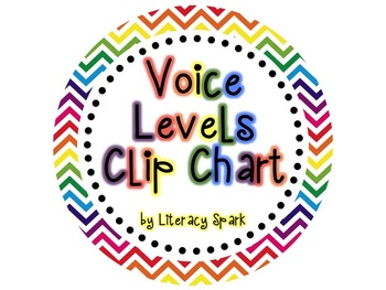 Voice Levels Clip Chart {Rainbow Chevron}