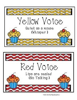Noise Levels (Voice Control) -  Cupcake theme