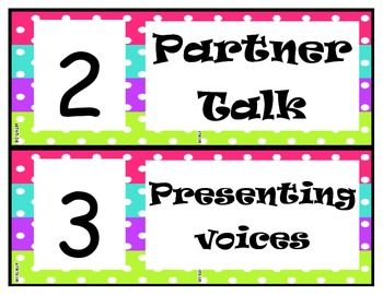 Voice Levels Pink, Blue, Green, Purple Polka Dot