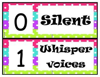 Voice Levels Pink, Blue, Green, Purple Polka Dot