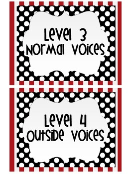 Voice Levels Polka dot Red and Black