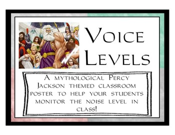 Voice Levels Poster - Percy Jackson Themed
