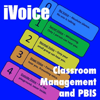 Voice Levels Poster and Lesson Plans for Noisy Classroom Management: PBIS