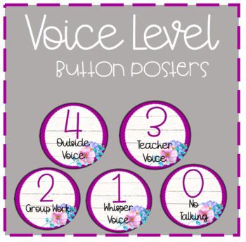 Voice Level Posters Purple Shiplap