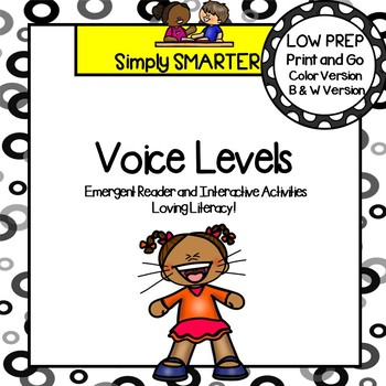 Voice Levels Social Story Emergent Reader Book AND Interactive Activities