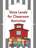 Voice Levels Chart for Classroom Activities {Volume Control}