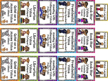 Managing Voice Levels in a Creative Way!--Posters, Bookmarks, Worksheets