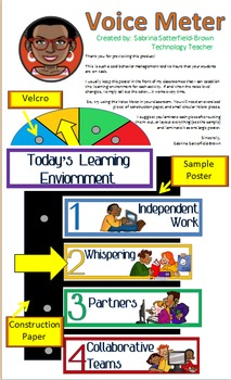 Classroom Management/Technology: Voice Level Meter (8 1/2 x 14 printable)