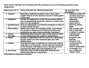 Voice Paper Prompts & Guidelines