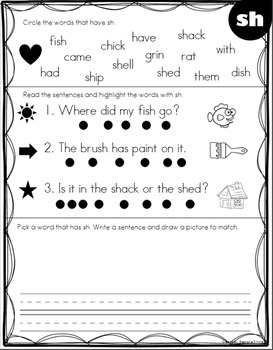 Voice Recorded Digraph Phonics Instruction