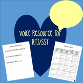 Voice Resource-Response to Intervention (RTI) / Student Support Team (SST)