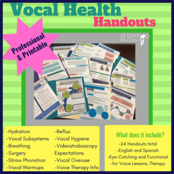 Voice Therapy 911 Bundle for Speech Therapy