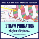 Voice Therapy Straw Phonation Airflow Airplanes for Speech Therapy